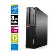 Lenovo ThinkCentre M800 10FX-S0PS00 SFF - Core i3-6100@3.70GHz - 8Go RAM - 1000Go HDD - DVD-RW - Windows 10 Home