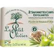 2 Savonnettes Corps Exfoliantes ? Poudre de Noyaux d?Olive