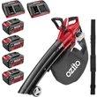 Ozito PXCBLVS 36v Cordless Brushless Garden Vacuum and Leaf Blower (Uses 2 x 18v) 4 x 4ah Li-ion Twi