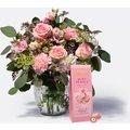 Blumenstrauß Glücksmoment mit Knusperkugel mit Haselnusskern
