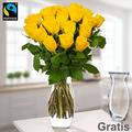 20 gelbe Fairtrade Rosen verschicken im Bund