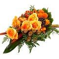 Trauerstrauß in Orange