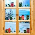 Fenster-Sticker Winterdorf