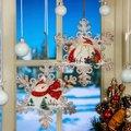 Fensterdeko Schneeflocke, 2er-Set