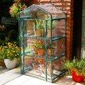 Folien-Mini Gewächshaus, L 70 Zentimeter x T 50 Zentimeter x H 126 Zentimeter, Stahl, grün lackiert