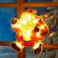 LED-Fensterdeko Weihnachtsmann Manni