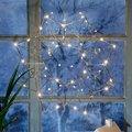 Star LED-Leuchtstern Modern Christmas, 38x38x7 Zentimeter, Metall, chrom