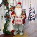 Weihnachtsmann Väterchen Frost, 60x30x25 Zentimeter, Kunststoff, grau rot