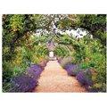 Gartengemälde Rosenbogenweg 130 x 70 Zentimeter