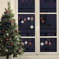 Fenster-Sticker Christbaumschmuck, rot