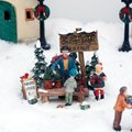 Miniatur-Christbaum-Verkaufsstand