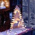 Star LED-Fensterleuchter Winter Emotion, 44x28x6 Zentimeter, Holz, natur