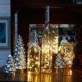 Star Micro-LED-Lichterkette für Flaschen, 200 Zentimeter, Kunststoff, silber