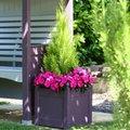 Pflanzkübel Cottage, 43x39x39 Zentimeter, Rotholz, lavendel