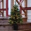 Star Künstlicher LED-Außen-Tannenbaum Byske, 90x55x55 Zentimeter, Kunststoff, grün