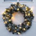 Star LED-Kranz Edmonton, 50x15x15 Zentimeter, Kunststoff, grün