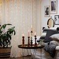 Star Micro-LED-Vorhang Dew Drops, 200x100 Zentimeter, Kunststoff, silber