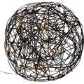 LED-Designkugel Galax, 30 Zentimeter, Aluminium, schwarz