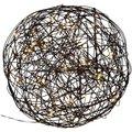 LED-Designkugel Galax, 37 Zentimeter, Aluminium, schwarz