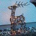 Star LED-Outdoor-Rattan-Rentier Lotti, 12x36x55 Zentimeter, Metallgestell, braun