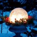 Glaskugel Weihnachtsglanz, klar 20 Zentimeter