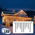 Star LED Lichtsystem Eiszapfenvorhang, 200x100 Zentimeter, schwarz