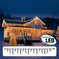 Star LED Lichtsystem Eiszapfenvorhang, 300x40 Zentimeter, schwarz