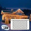 Star LED Lichtsystem Lichternetz, 200x100 Zentimeter, schwarz
