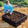 Kartoffel-Anzucht-Beet, Kunststoff, braun, 92x92x25 Zentimeter