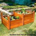 Hochbeet Extra Tief, Akazienholz, natur, 91x91x60 Zentimeter