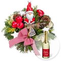 Santa Claus und Xmas-Goldtraum-Piccolo