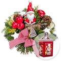 Santa Claus und Weihnachts-Laterne mit LED