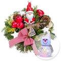 Santa Claus und LED-Schneemann