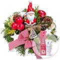 Santa Claus und Handcreme Merry Christmas