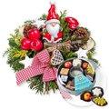 Santa Claus und Adventskaffee