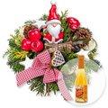Santa Claus und Bratapfel-Secco