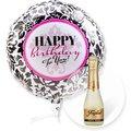 Ballon Happy Birthday Black and White und Freixenet Semi Seco