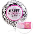 Ballon Happy Birthday Black and White und Schokolade Dein Tag