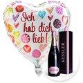 Ballon Ich hab dich lieb! und Kessler Rose Sekt