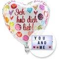 Ballon Ich hab dich lieb! und Lichtbox