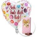 Ballon Ich hab dich lieb! und Belgische Pralinen-Auslese