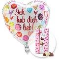 Ballon Ich hab dich lieb! und Herz-Pralinen-Trio
