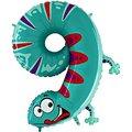 Tierischer Zahlen-Ballon 9 Gecko