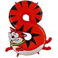 Tierischer Zahlen-Ballon 8 Katze