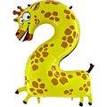 Tierischer Zahlen-Ballon 2 Giraffe