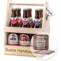 Personalisierter Bierträger inklusive Sixpack Bier und Bierdeckel
