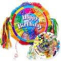 Zugpinata Happy Birthday (46 Zentimeter) und Pinata-Süßigkeiten-Set