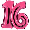 Riesenballon-Set Wunsch-Ziffern pink