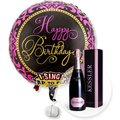 Singender Ballon Happy Birthday Glamour und Kessler Rose Sekt