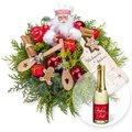 Weihnachtsbäckerei und Xmas-Goldtraum-Piccolo